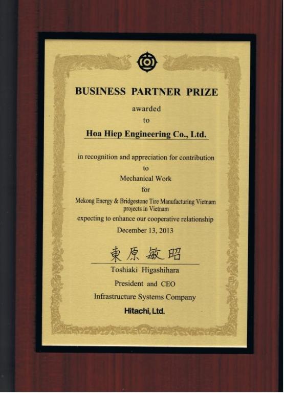 Hitachi Certificate