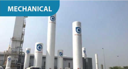 Industrial gas production plant